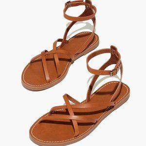 NWT Madewell The Boardwalk Skinny-Strap Sandal 10